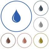 Water drop icon Royalty Free Stock Photos