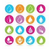 Water drop icons Stock Images