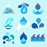 Water drop icons and design elements Royalty Free Stock Photography