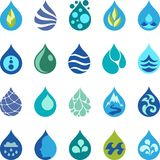 Water drop icons and design elements Stock Photo
