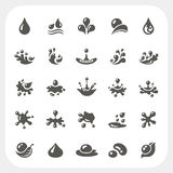 Water drop icons set Royalty Free Stock Image