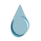 Water drop illustration Royalty Free Stock Photos