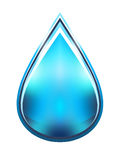 Water drop illustration Stock Photography