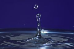 Water drop impact Royalty Free Stock Photography