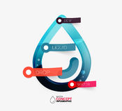 Water drop info layout concept Royalty Free Stock Photos