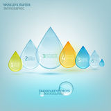Water drop infographic 02 A Stock Image