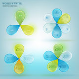 Water drop infographic 02 A Royalty Free Stock Photos