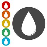 Water drop isolated logo. Drop abstract vector logo stock illustration