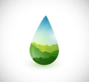 Water drop landscape info graphics illustration Royalty Free Stock Photography