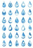 Water drop. Logo of a drop, water, a drop of water Royalty Free Stock Images