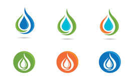 Water Drop Logo Royalty Free Stock Images