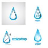 Water drop logo Stock Image