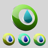 Water Drop Logo Stock Images