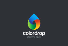 Water drop Logo design vector. Liquid Droplet Logo Royalty Free Stock Photo