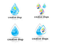 Water Drop Logo Royalty Free Stock Photo