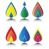 Water drop logo Stock Photo