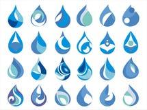 Water drop. Logo water drop mineral of rain splash water, Drawn drop of water, ecological element drops logo, watermark Stock Image