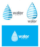 Water drop logo set Royalty Free Stock Photography