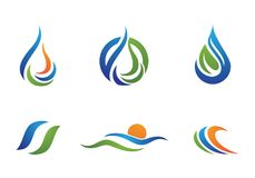 Water drop Logo Template. Illustration design Stock Image