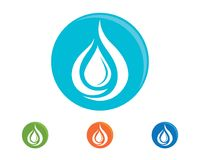 Water drop Logo Template. Vector illustration design Royalty Free Stock Photography