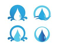 Water drop Logo Template vector illustration design. Vector water drop Logo blue fresh vector illustration design Royalty Free Stock Photography