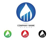 Water drop Logo Template. Vector illustration design Stock Images