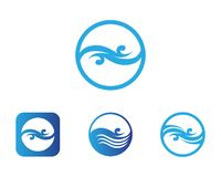 water drop Logo Template vector illustration design stock illustration