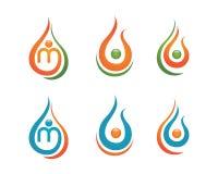 Water drop Logo Template Stock Photos