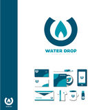 Water drop logo. Vector company logo icon element template water drop waterdrop logo aqua royalty free illustration