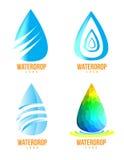 Water drop logos Royalty Free Stock Image