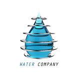 Water drop and metal Stock Images