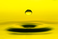 Water Drop In Mid Air Stock Photography