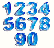 Water drop numbers Royalty Free Stock Image