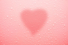 Water drop on pink surface for love and valentine Royalty Free Stock Photo