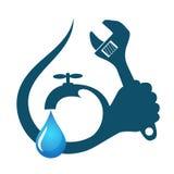 Water drop plumbing repairs Royalty Free Stock Images