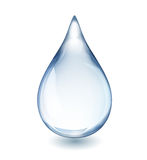 Water Drop. Realistic single water drop on white vector illustration, EPS 10 contains transparency royalty free illustration
