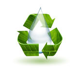 Water drop and recycling symbol Royalty Free Stock Photo