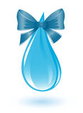 Water drop with ribbon Royalty Free Stock Photo