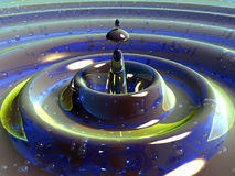 Water. Drop. Rings Stock Image