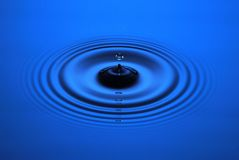 Water Drop Ripple Background Stock Photography
