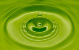 Water drop with ripples Royalty Free Stock Photo