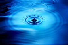 Water Drop Ripples Rain Stock Image