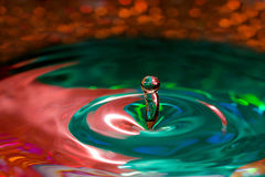 Water Drop Sculpture Stock Photography