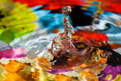 Water Drop Sculpture. Stock Photo