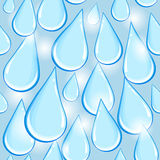 Water drop - seamless pattern Royalty Free Stock Photos