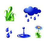 Water drop set Royalty Free Stock Image