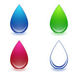 Water Drop Set Royalty Free Stock Images