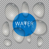 Water drop set. On transparent background. Vector illustration stock illustration