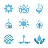 Water Drop Shapes Collection. Vector Icon Royalty Free Stock Photography