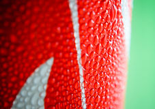 Water drop on soda cans Royalty Free Stock Photos